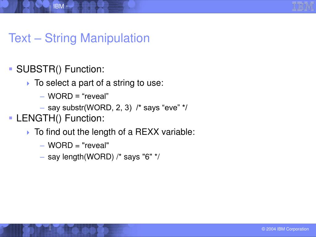 Text – String Manipulation