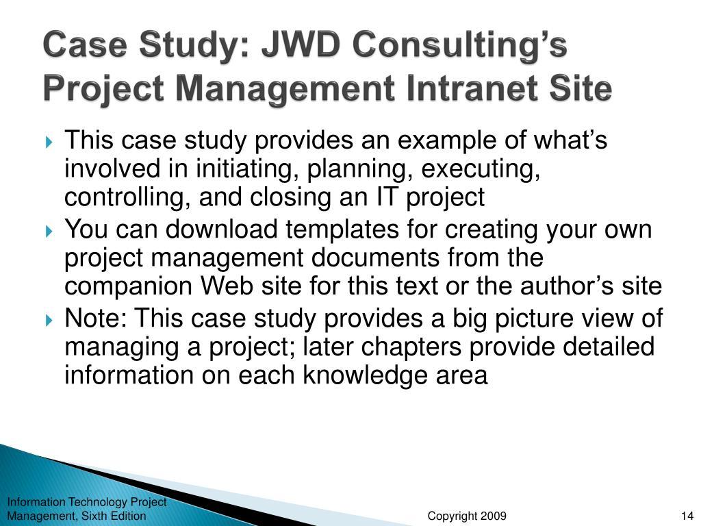 project management case studies for students