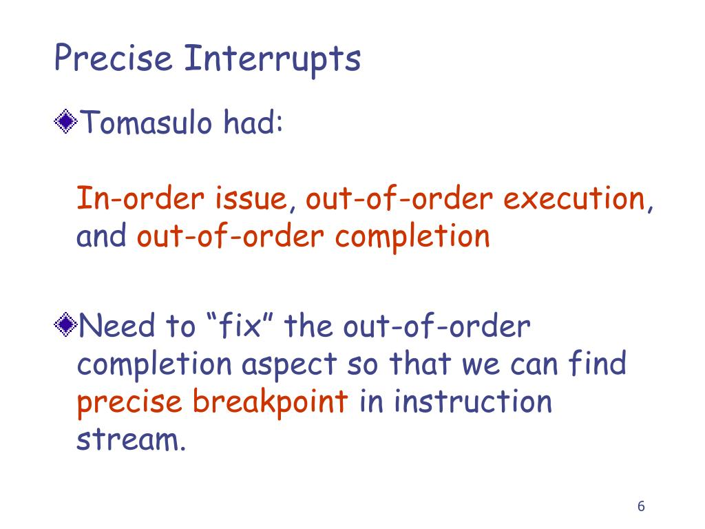 Precise Interrupts
