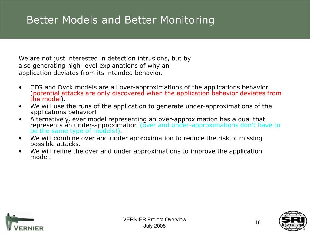 Better Models and Better Monitoring