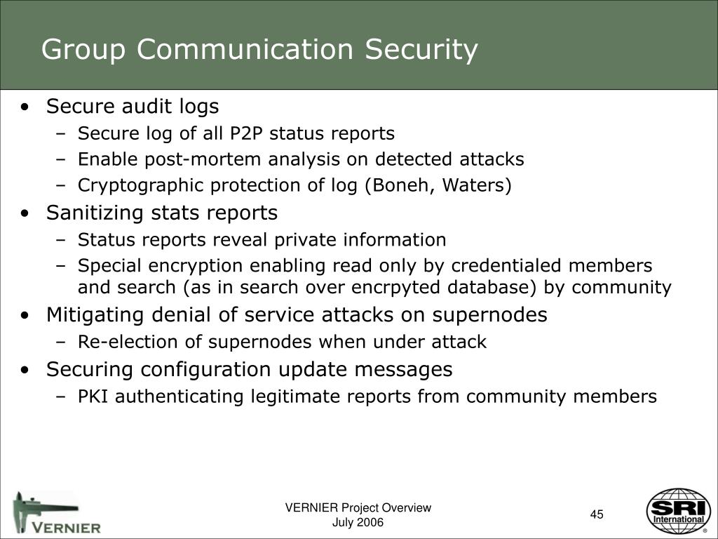 Group Communication Security