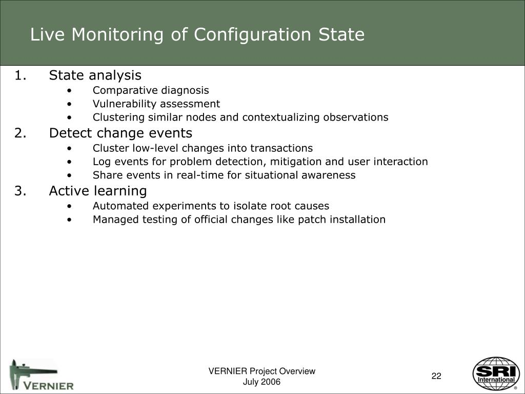 Live Monitoring of Configuration State