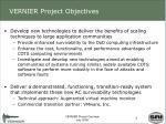 vernier project objectives