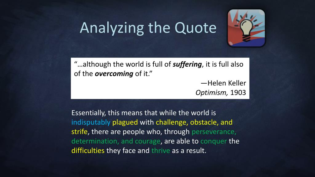 Analyzing the Quote