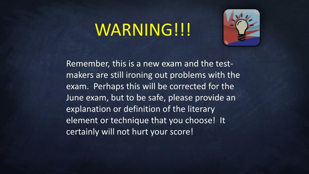 WARNING!!!