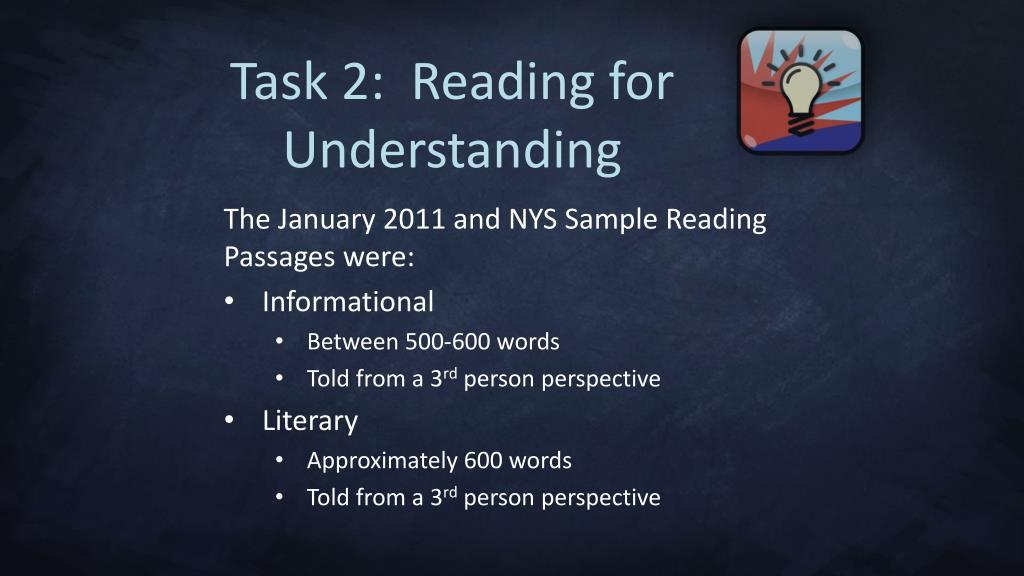 Task 2:  Reading for
