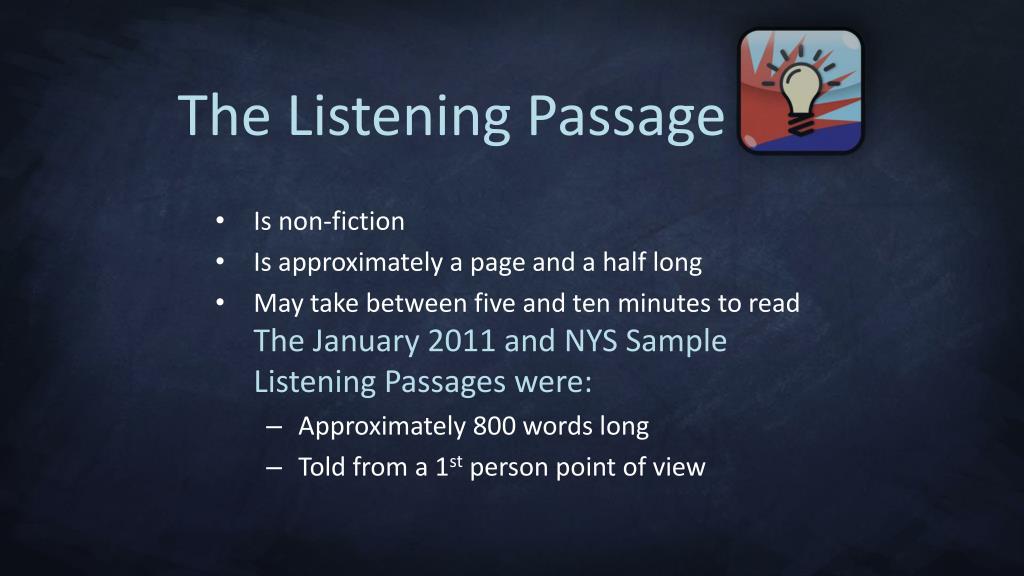 The Listening Passage