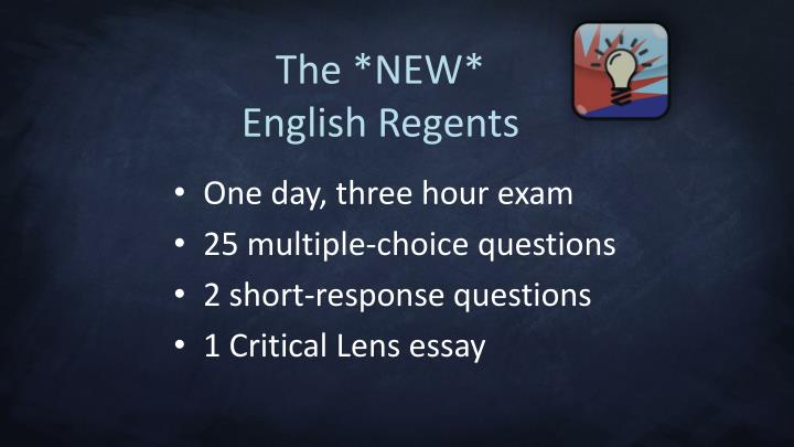 The new english regents