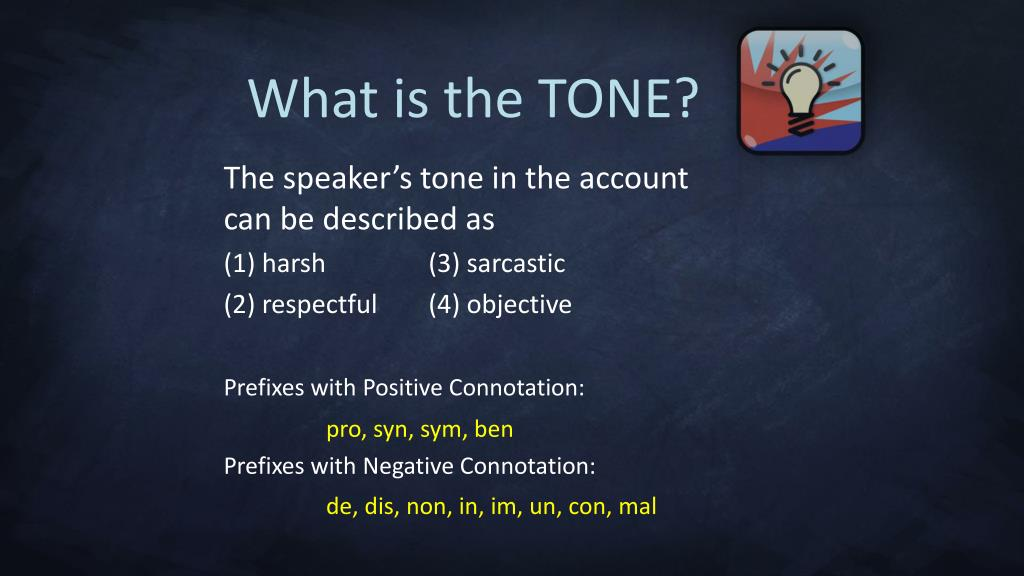 What is the TONE?