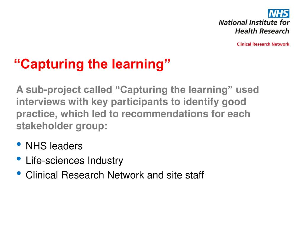 """Capturing the learning"""