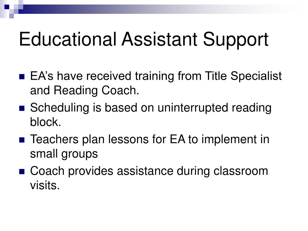 Educational Assistant Support