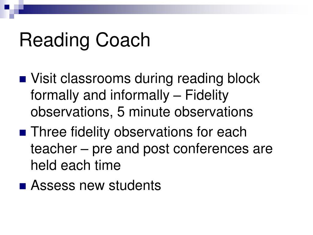 Reading Coach