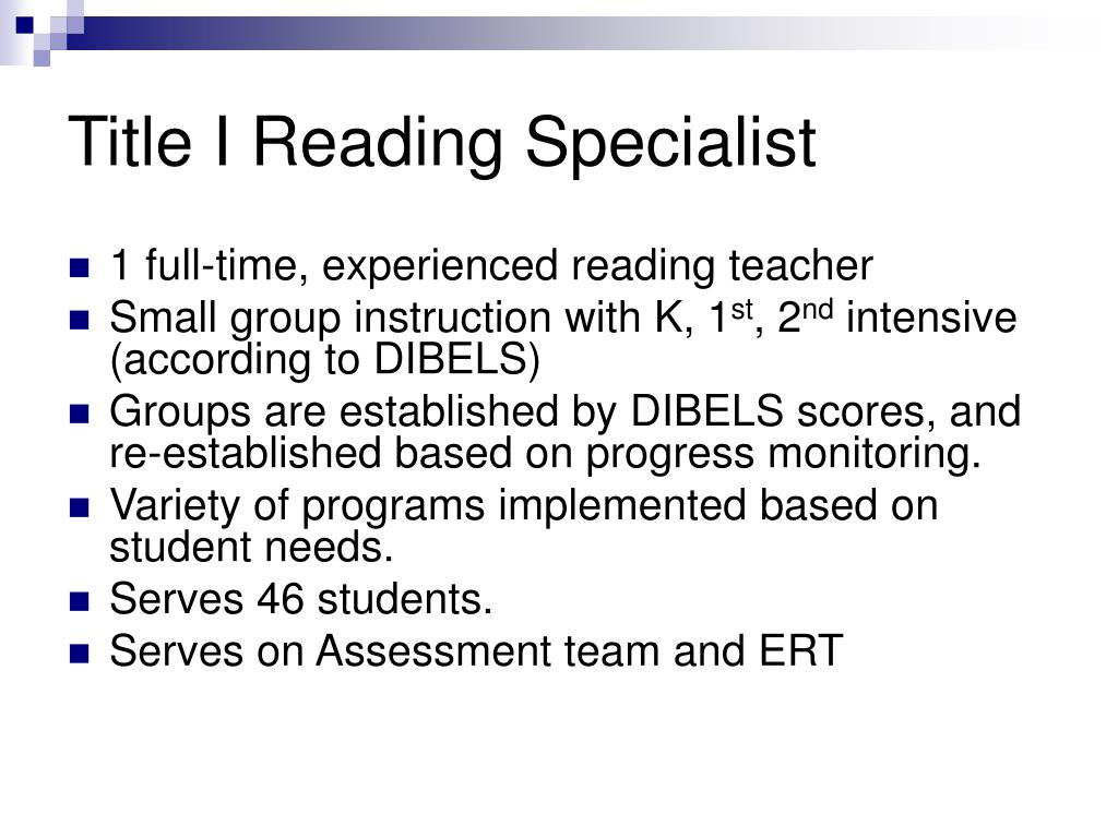 Title I Reading Specialist