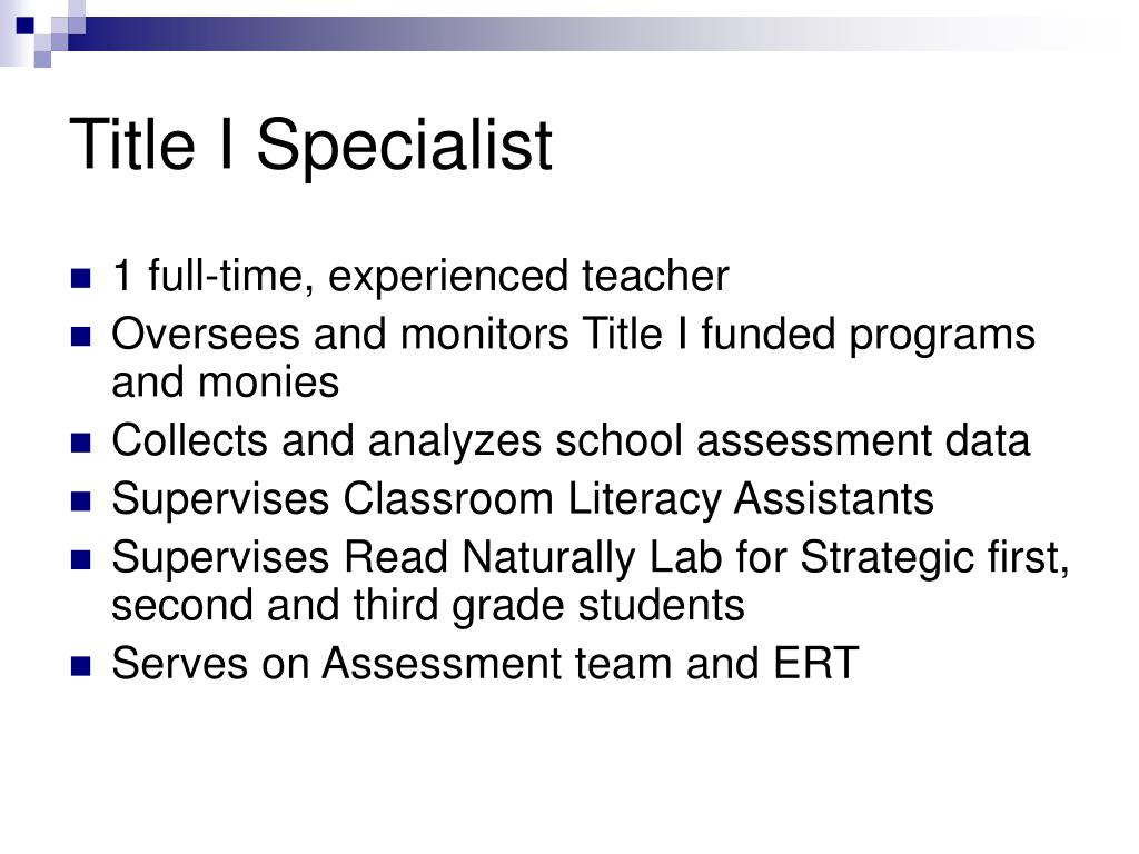Title I Specialist