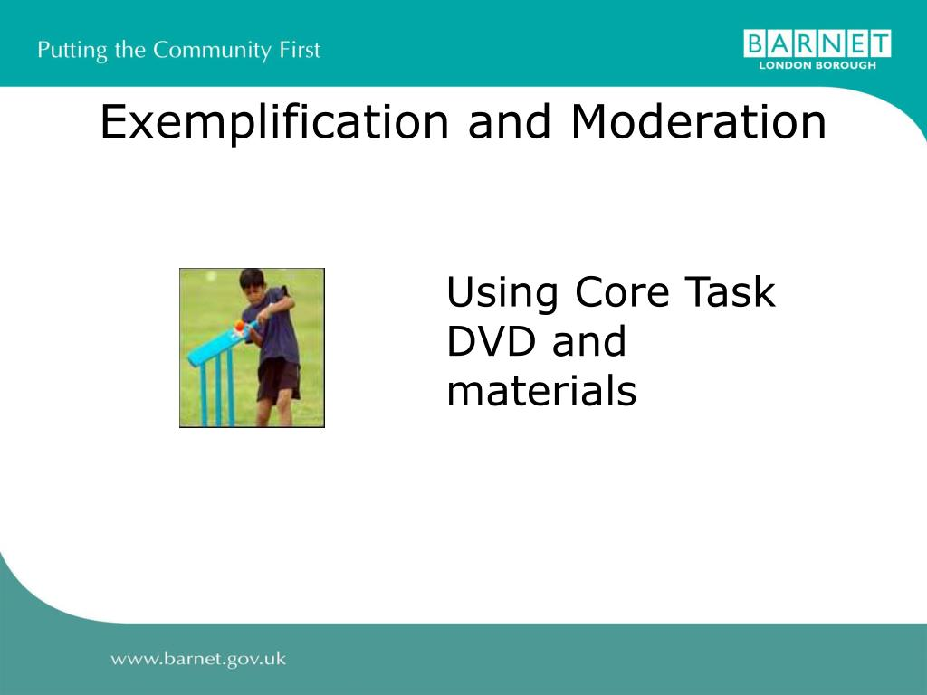 Exemplification and Moderation