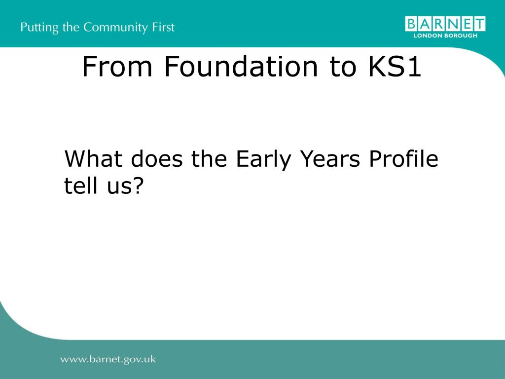 From Foundation to KS1