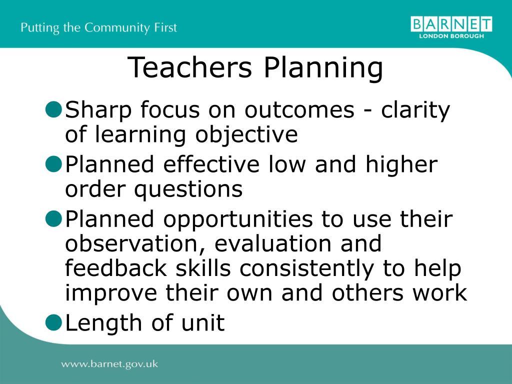 Teachers Planning
