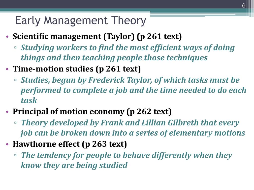 Early Management Theory