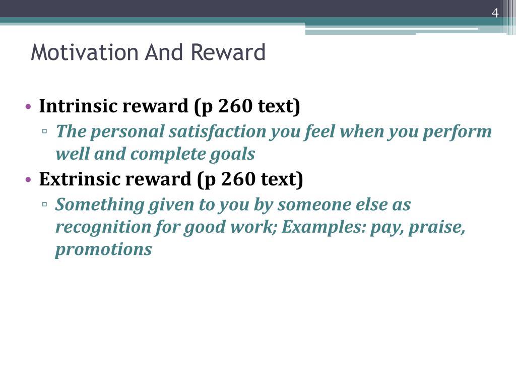 Motivation And Reward