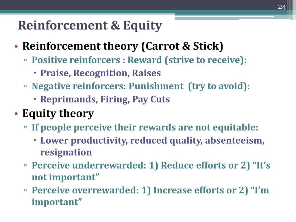 Reinforcement & Equity