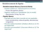 reinforcement equity