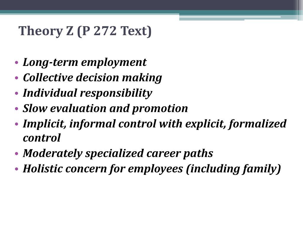 Theory Z (P 27