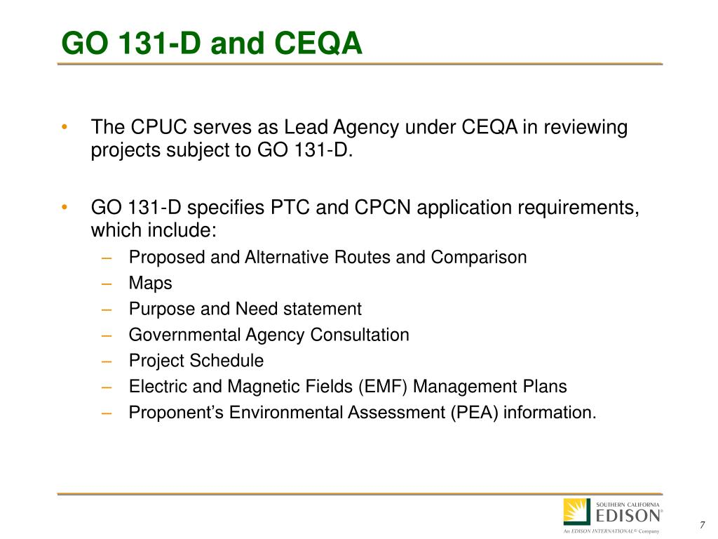 GO 131-D and CEQA
