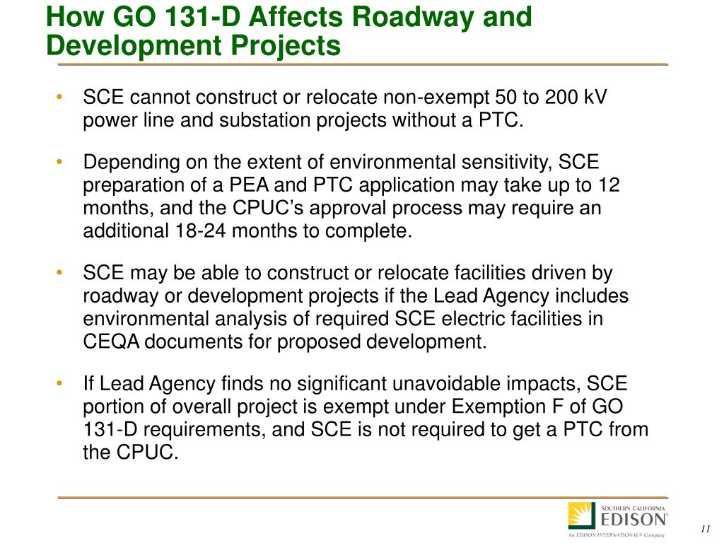 How GO 131-D Affects Roadway and Development Projects