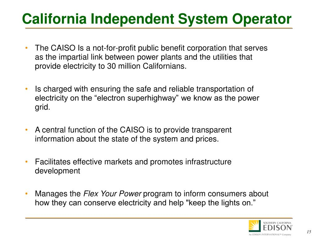 California Independent System Operator