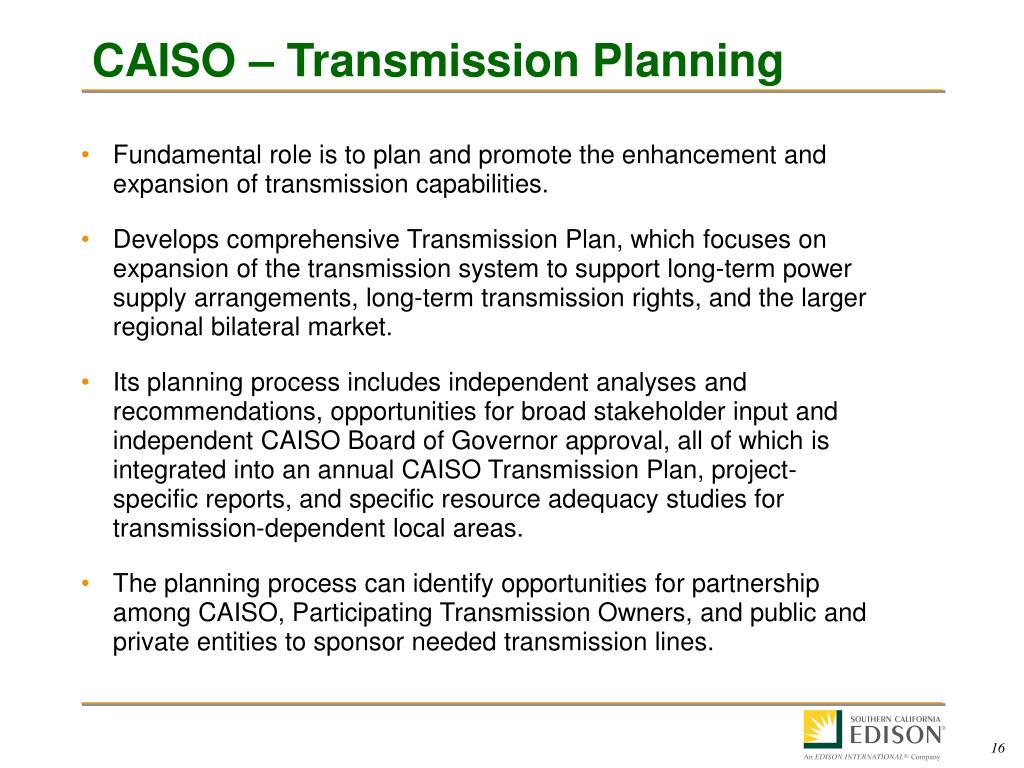 CAISO – Transmission Planning