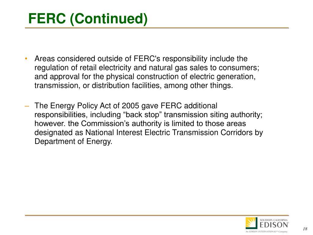 FERC (Continued)