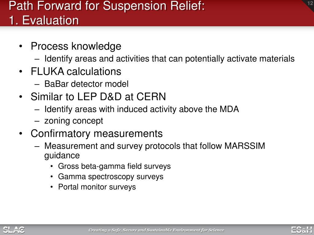 Path Forward for Suspension Relief: