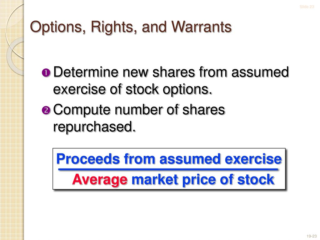 Miscellaneous stock options warrants