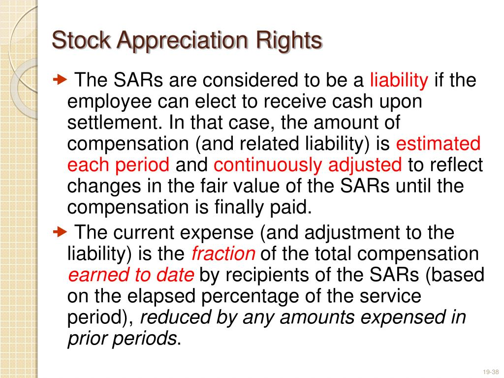 Sars versus stock options
