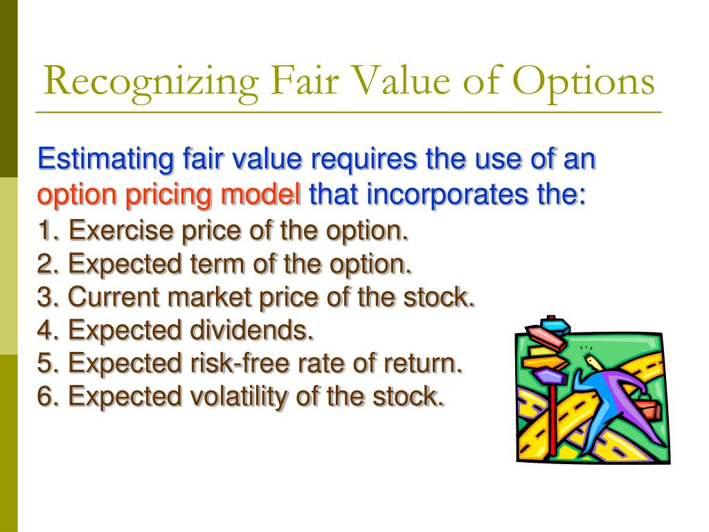 Fair value of stock options calculation