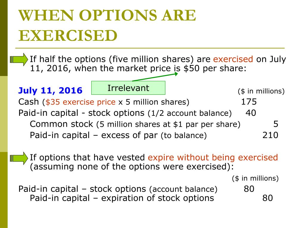 What does unvested stock options mean