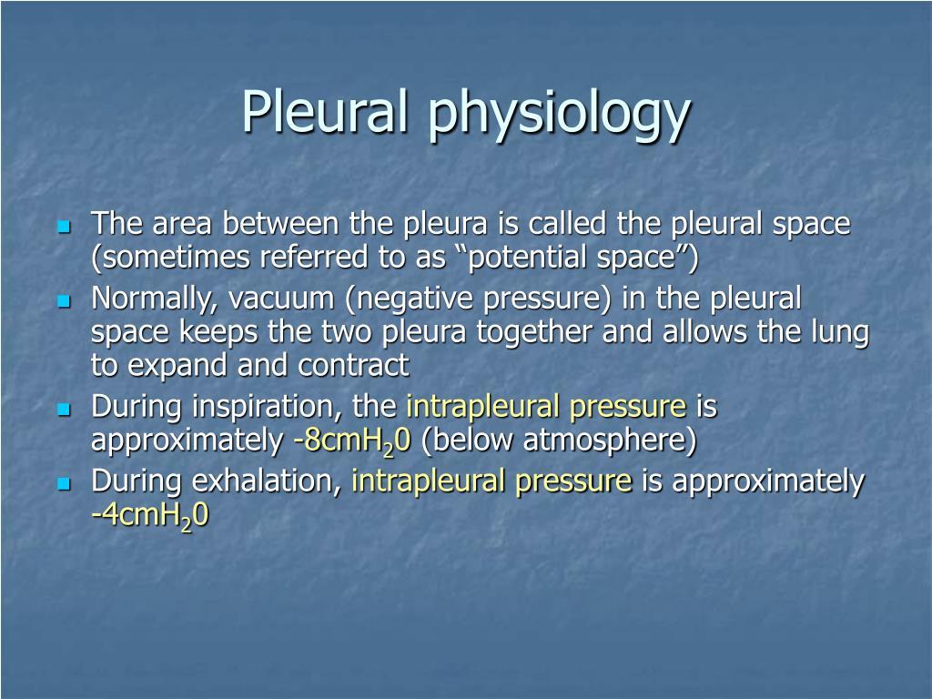 Pleural physiology