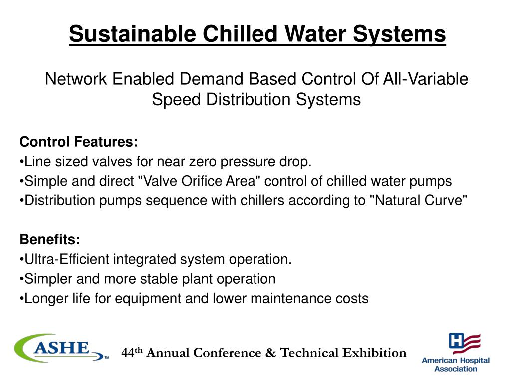 Sustainable Chilled Water Systems