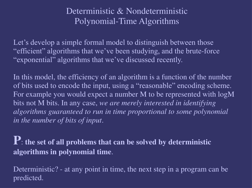 Deterministic & Nondeterministic