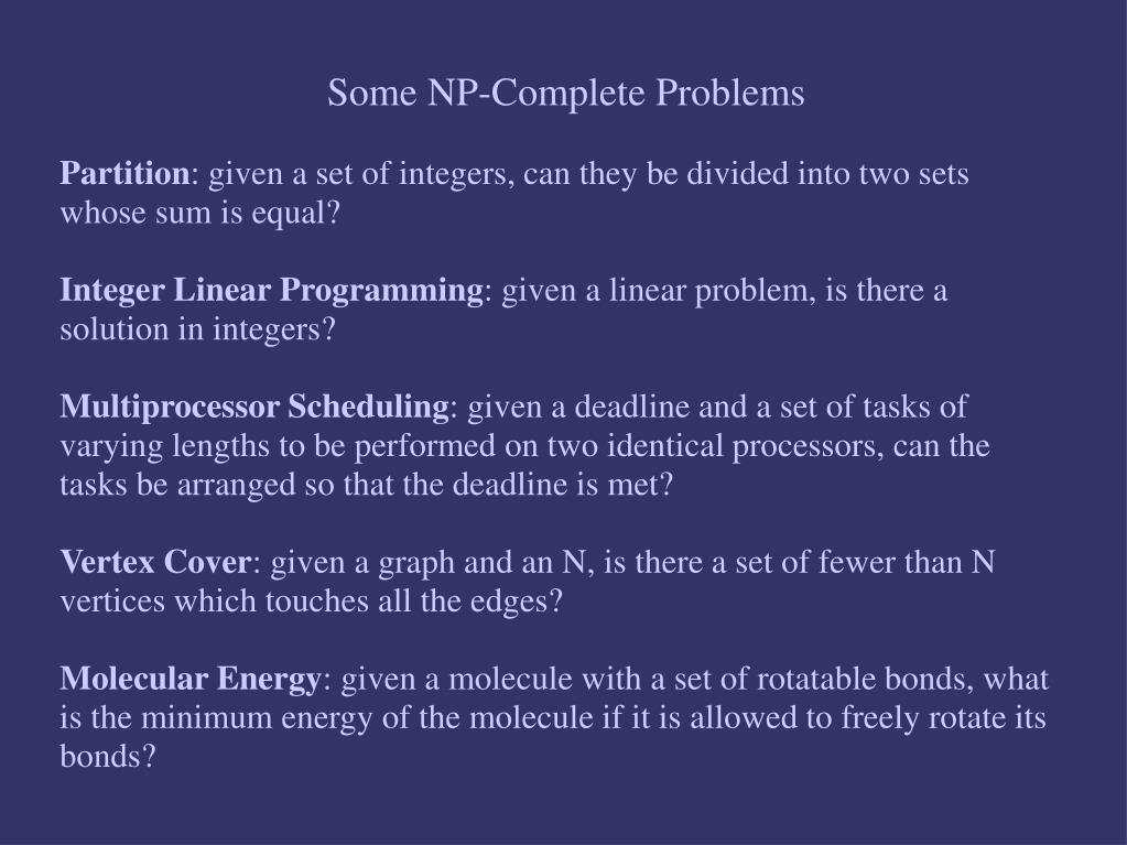 Some NP-Complete Problems
