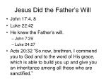 jesus did the father s will8