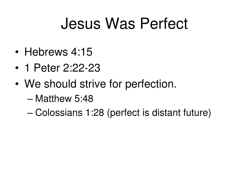 Jesus Was Perfect
