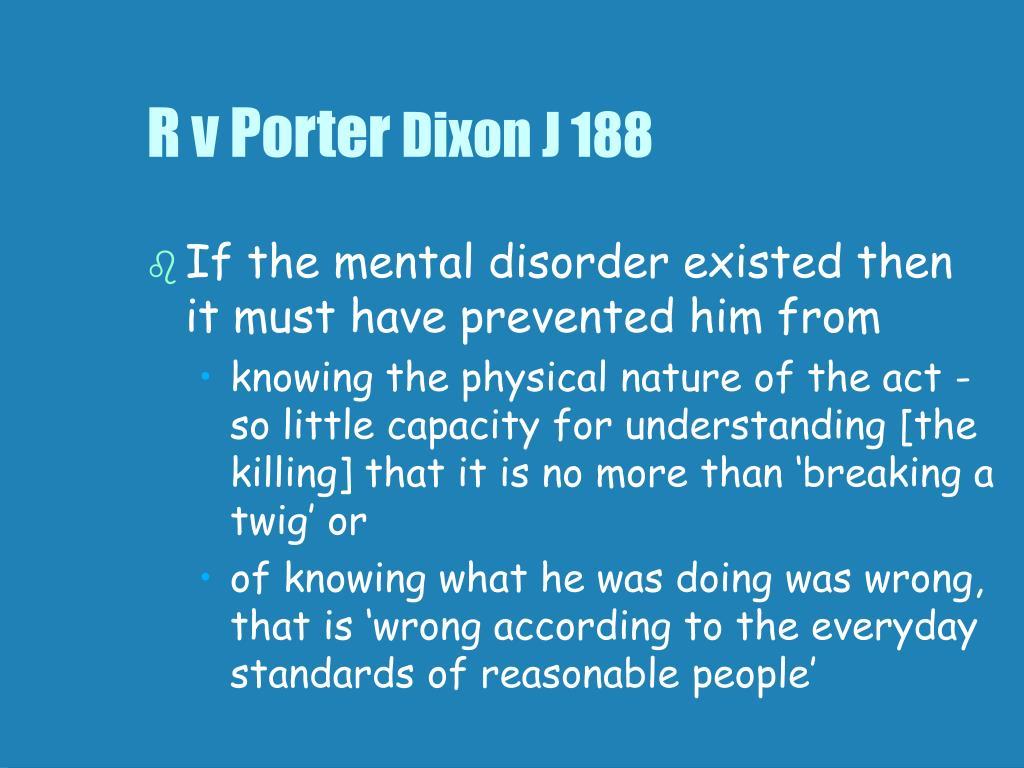 R v Porter
