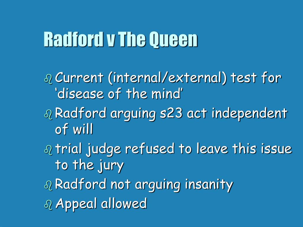 Radford v The Queen