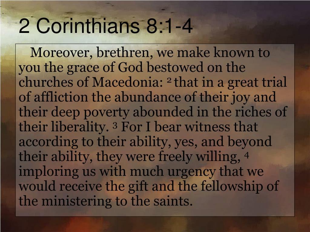 2 Corinthians 8:1-4