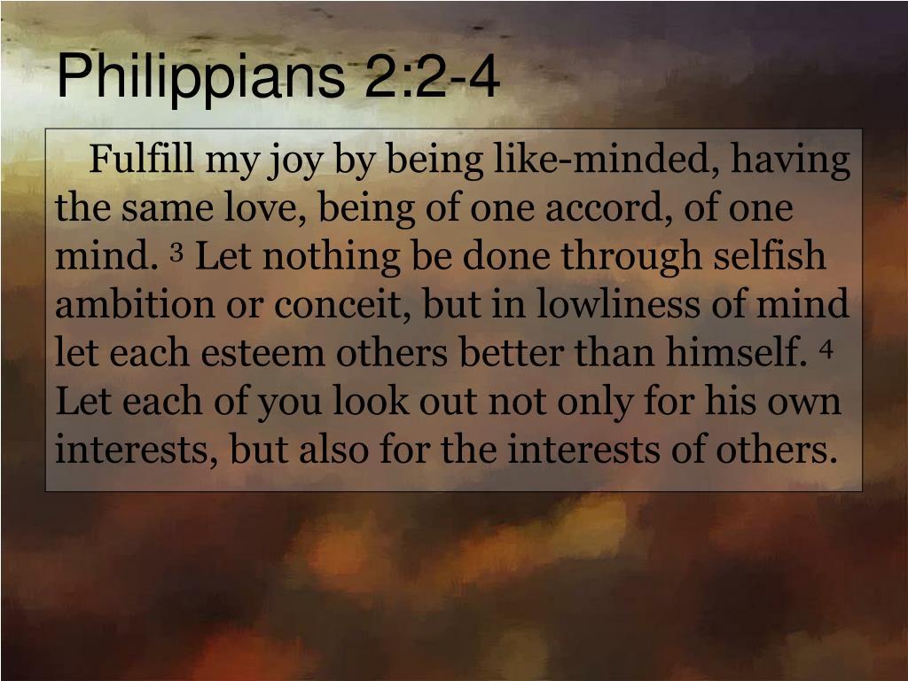Philippians 2:2-4