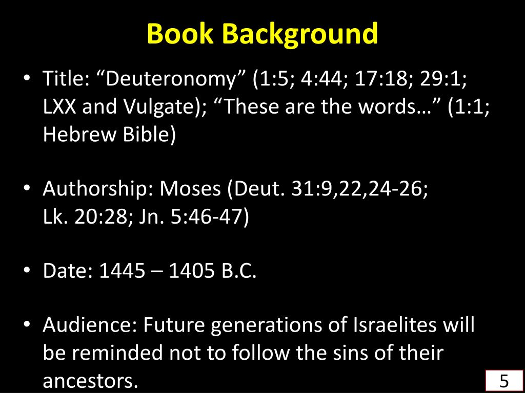 """analysis of the book of deutoronomy 6 introduction to the book of deuteronomy the name of the book in its hebrew origin, the book is called (elah hedbarim) or """"these are the words,"""" which are the opening words of chapter one."""