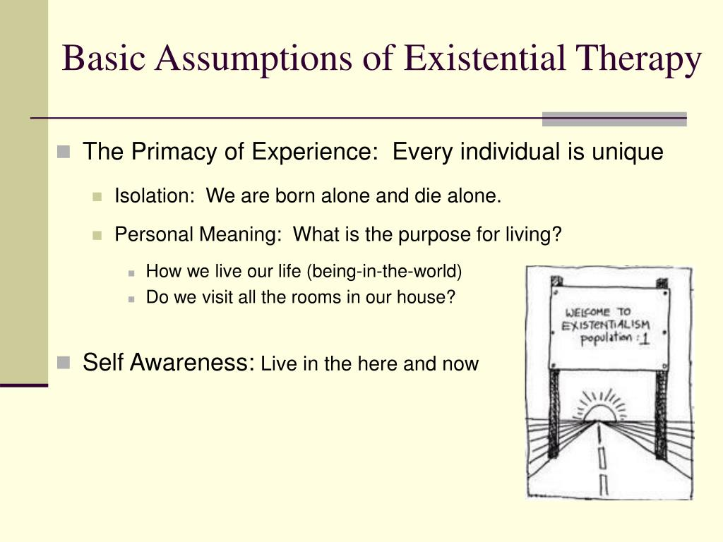 Basic Assumptions of Existential Therapy