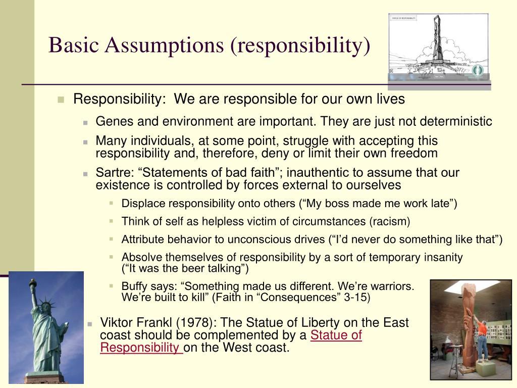 Basic Assumptions (responsibility)
