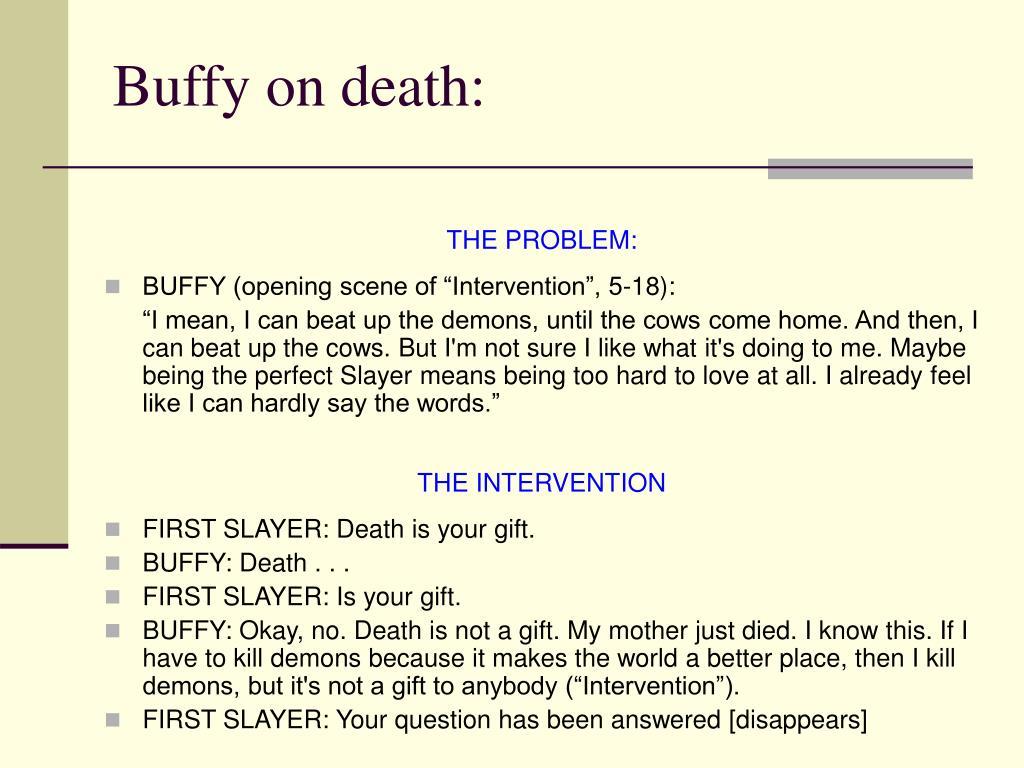Buffy on death: